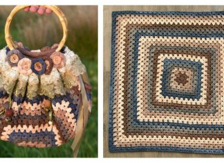 Granny Square Bag Free Crochet Pattern