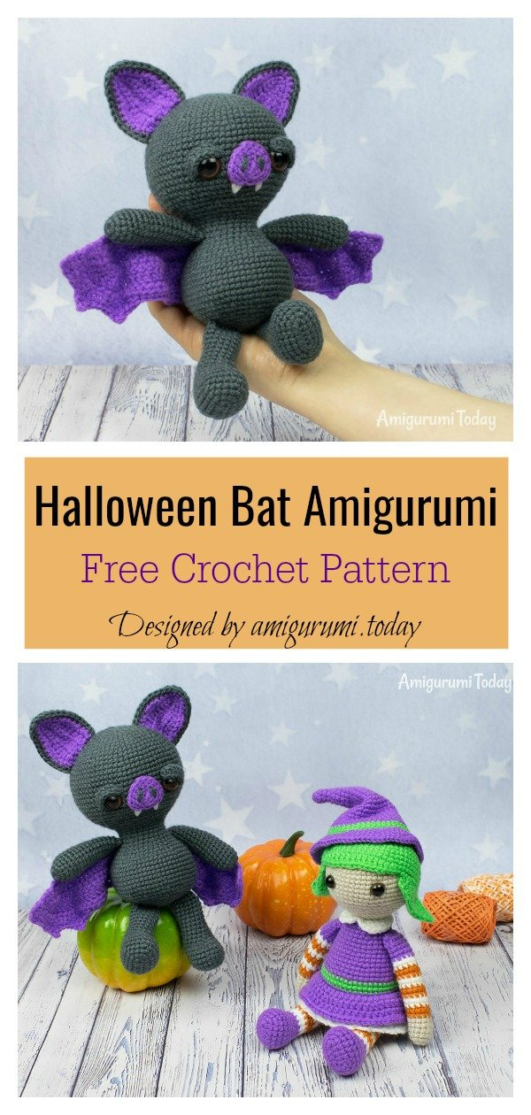 Cutie Pocket Bat! The free pattern is... - Amigurumi Freely | Facebook | 1260x600