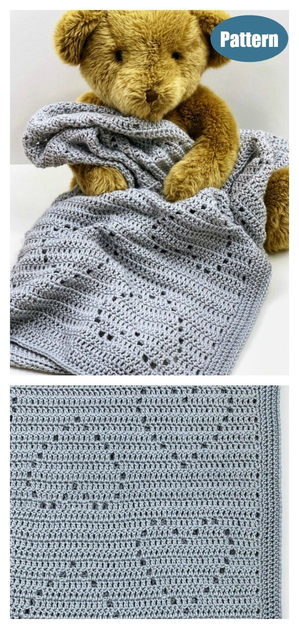 Heart Baby Blanket Crochet Pattern