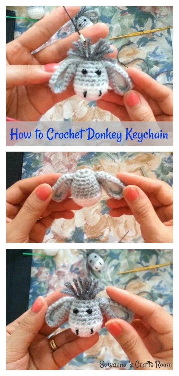 How to Crochet Donkey Keychain