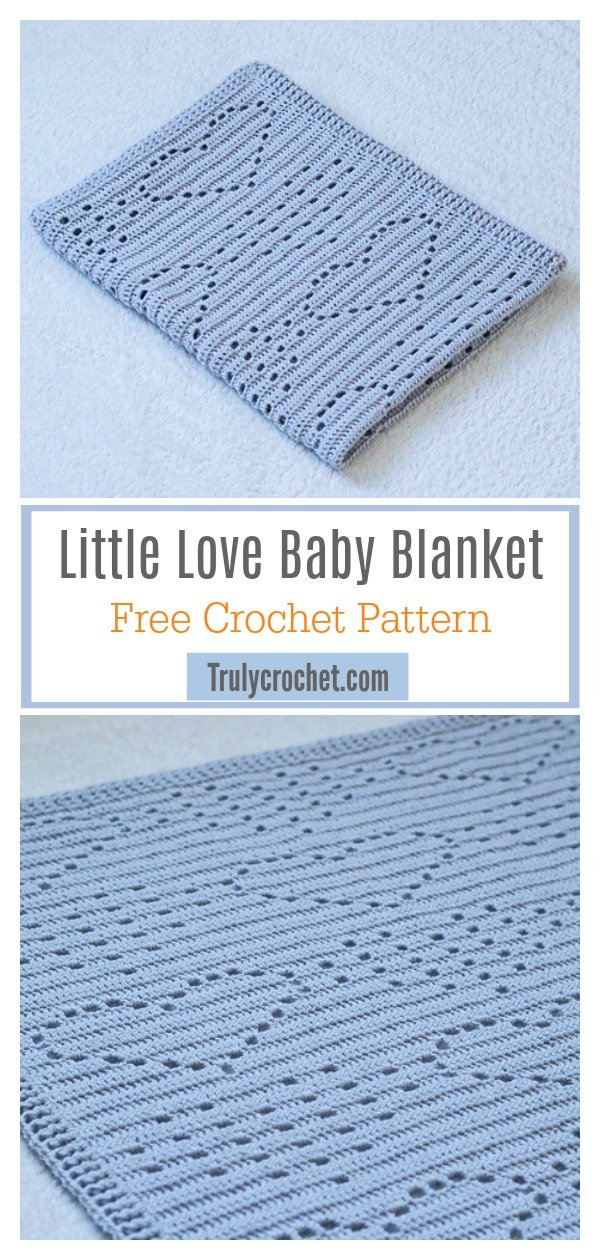 Little Love Baby Blanket Free Crochet Pattern