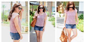 Mesh Squares Top Free Crochet Pattern