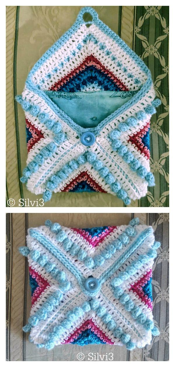 Parterre Garden Granny Square Pouch Free Crochet Pattern