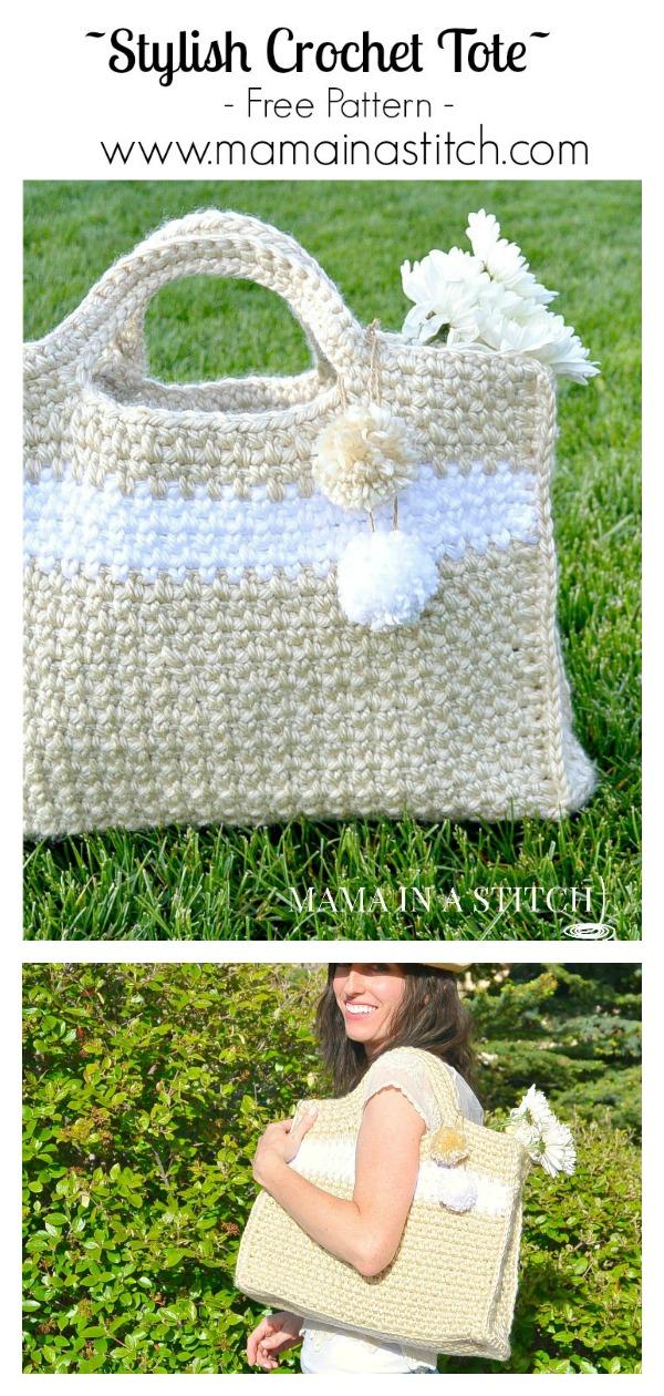 Simply Stylish Tote Bag Free Crochet Pattern