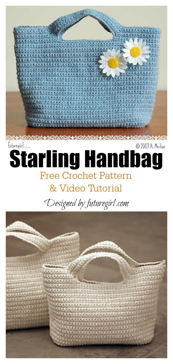 Starling Handbag Free Crochet Pattern and Video Tutorial