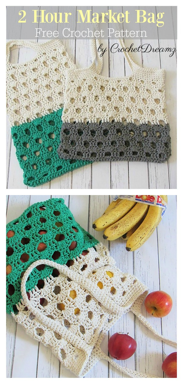 2 Hour Market Bag Free Crochet Pattern