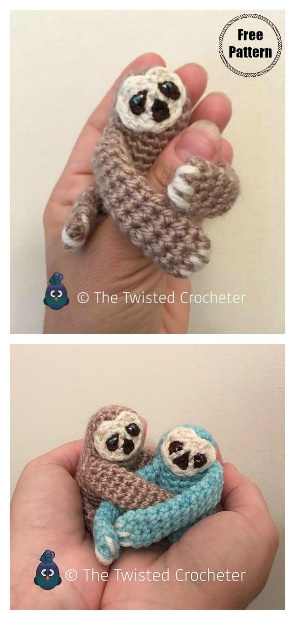 Amigurumi Baby Sloth Free Crochet Pattern