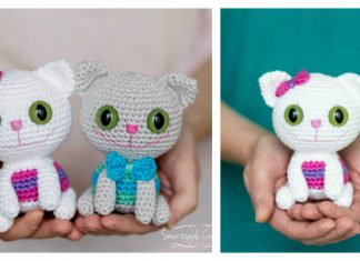 Amigurumi Cheeky Kitty Cat Free Crochet Pattern