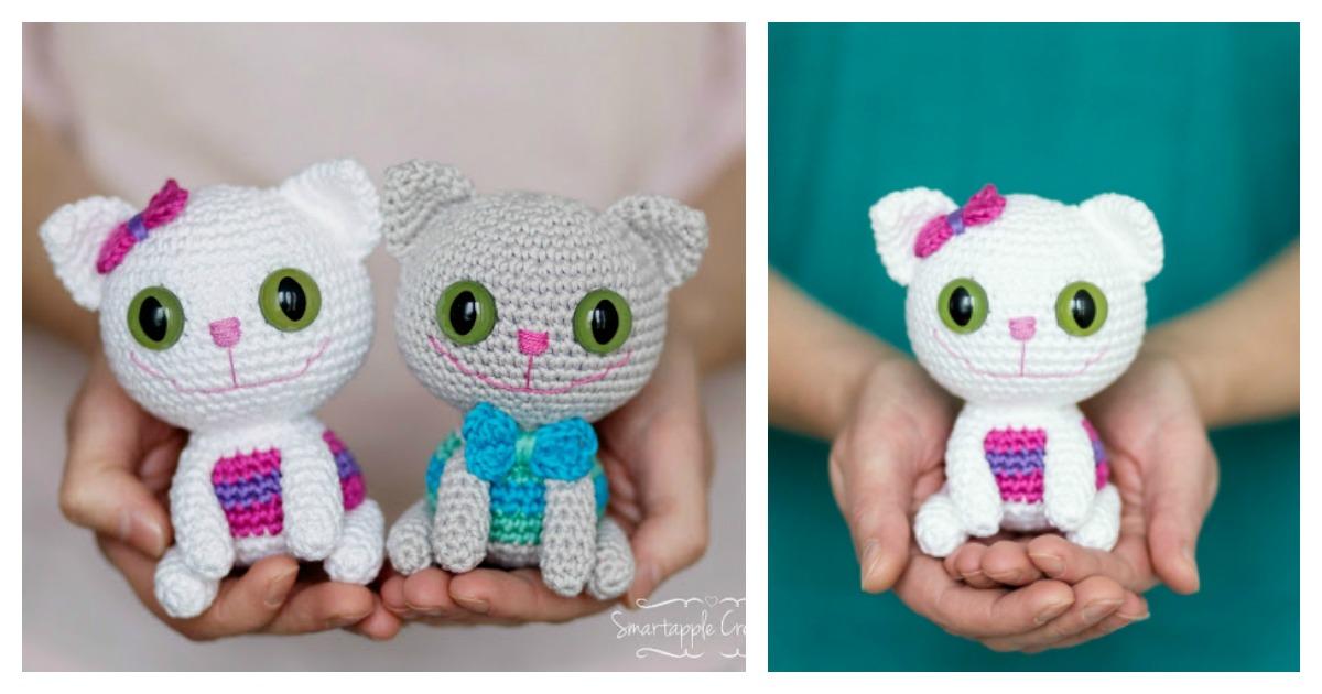 Dumpling Kitty - Free amigurumi pattern | 630x1200