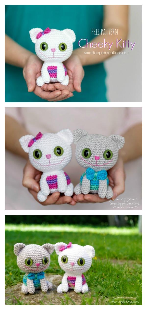 Amigurumi Cheeky Kitty Cat Free Crochet Pattern
