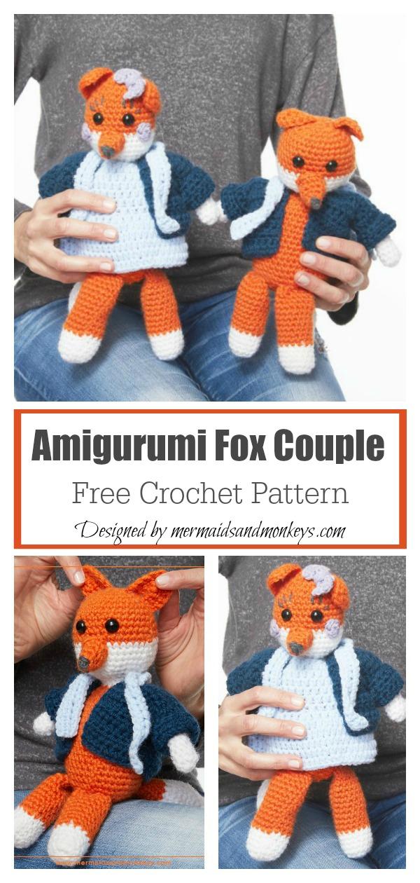 Amigurumi Fox Couple Free Crochet Pattern