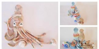 Amigurumi Hubble the Squid Free Crochet Pattern