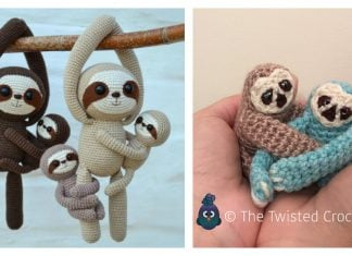 Amigurumi Sloth Crochet Pattern Free and Paid