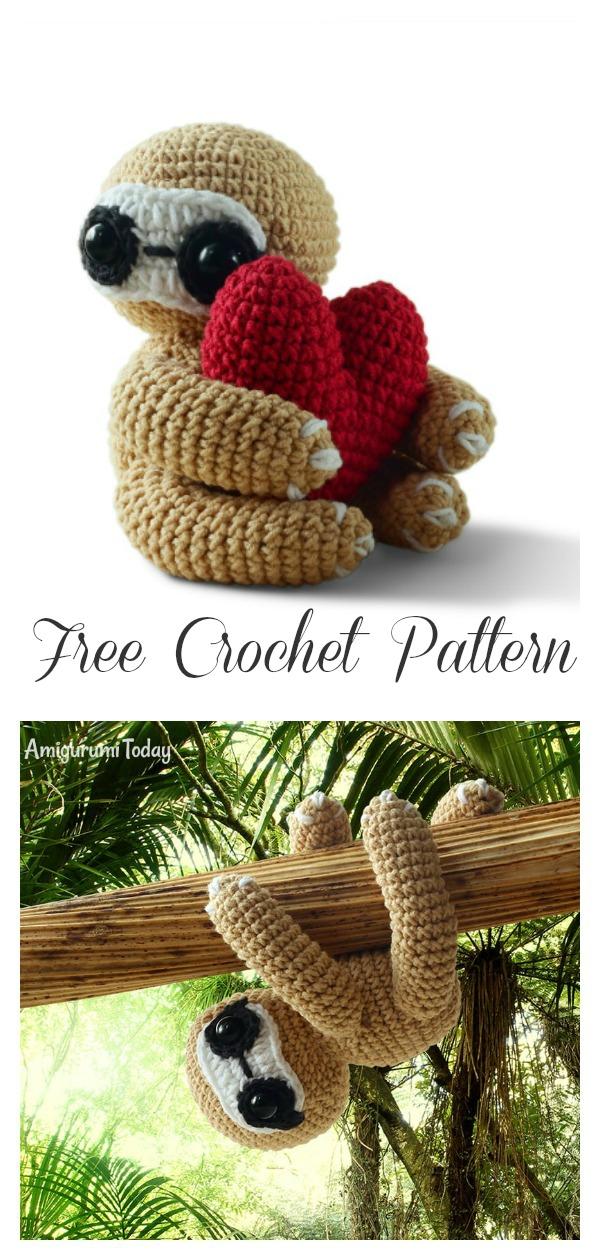 Amigurumi Sloth Free Crochet Pattern