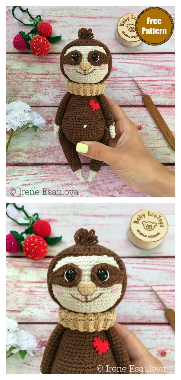 Amigurumi Sloth Neal Free Crochet Pattern