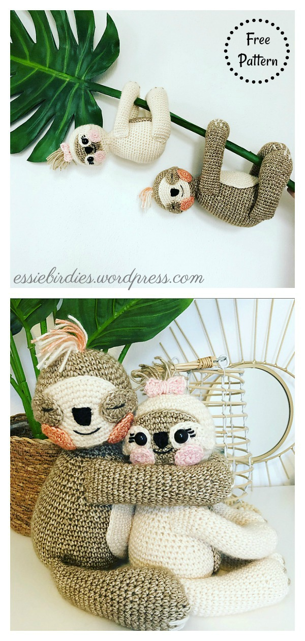 Doll Sloth – Pattern Free – Easy Crochet | Häkelanleitung ... | 1260x600