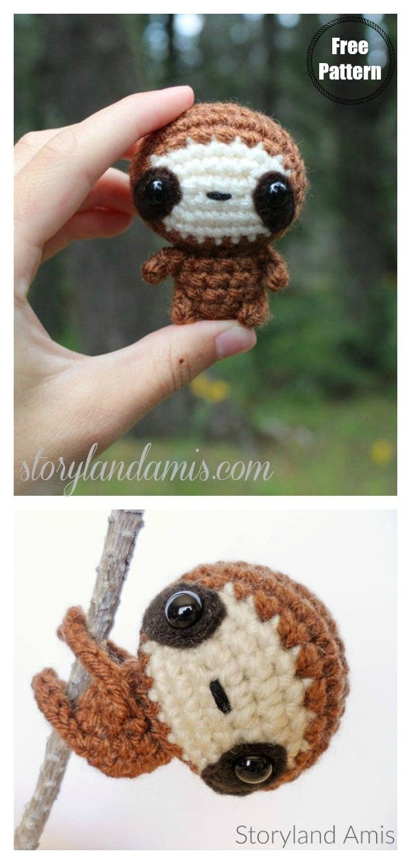 Amigurumi Zippy the Baby Sloth Free Crochet Pattern