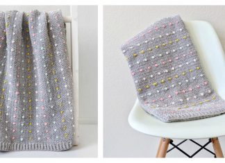 Candy Dots Baby Blanket Free Crochet Pattern and Video Tutorial