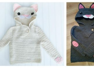 Cat Hooded Pullover Free Crochet Pattern