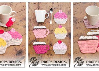 Cupcake Coasters Free Crochet Pattern