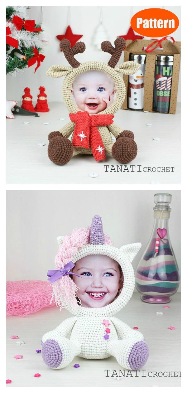 Cute Animal Photo Frame Crochet Pattern