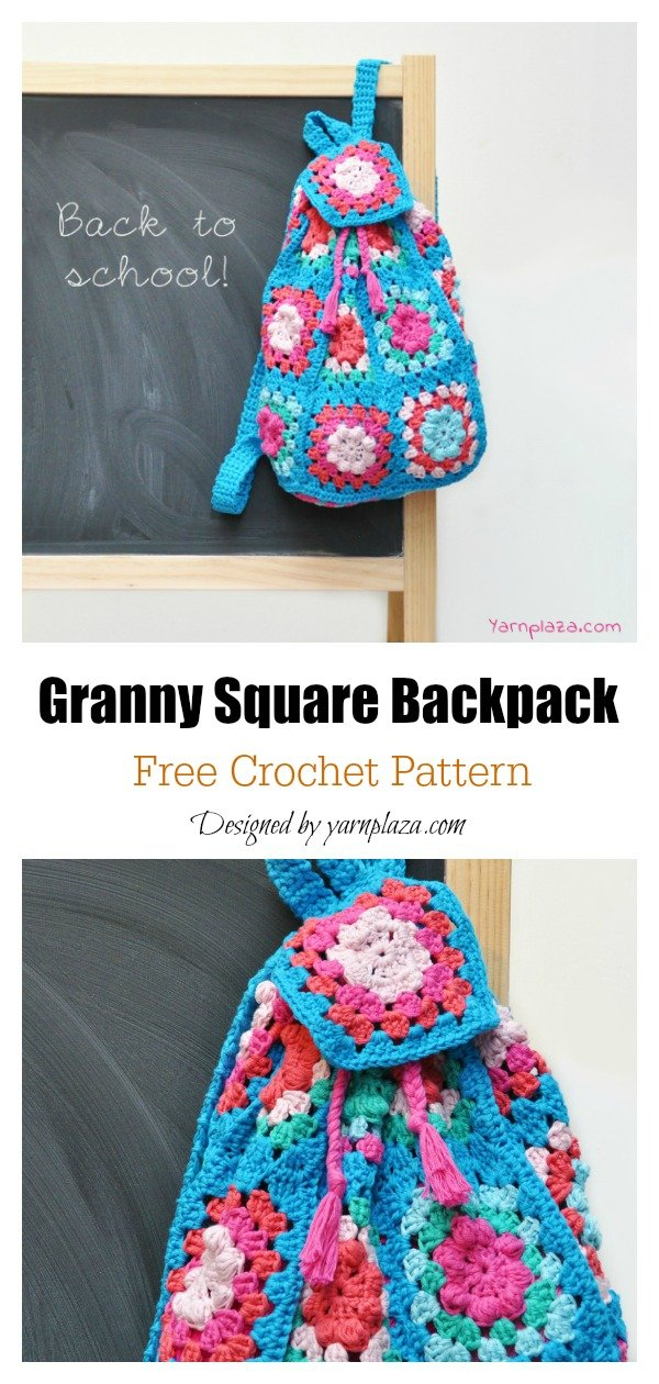 Granny Square Backpack Free Crochet Pattern