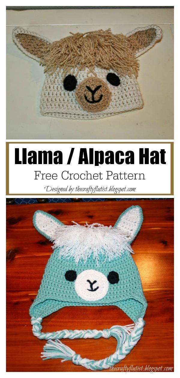 Llama : Alpaca Hat Free Crochet Pattern