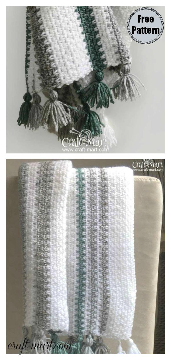Modern Moss Stitch Baby Blanket Free Crochet Pattern