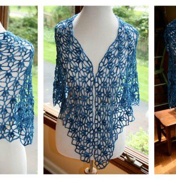My Blue Jeans Shawl Free Crochet Pattern