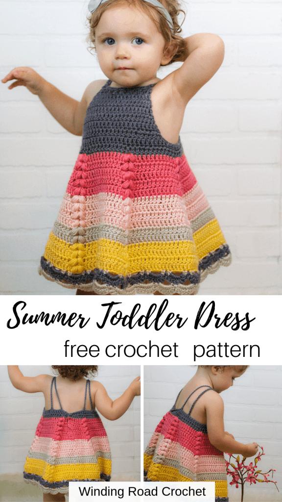 Puff Stitch Baby Dress Free Crochet Pattern