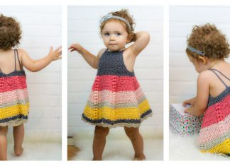 Puff Stitch Baby Dress Free Crochet Pattern