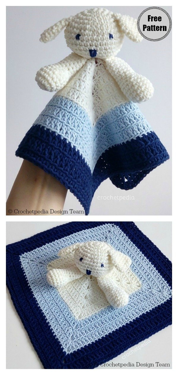 Puppy Dog Baby Lovey Free Crochet Pattern