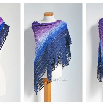 Secret Paths Shawl Free Crochet Pattern