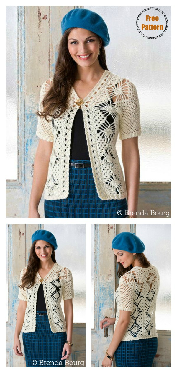 Spider Lace Jacket Free Crochet Pattern