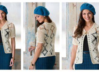 Spider Lace Jacket Free Crochet Pattern
