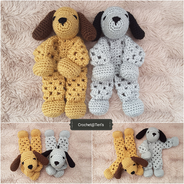 Puppy Dog Granny Hexagon Lovey Free Crochet Pattern