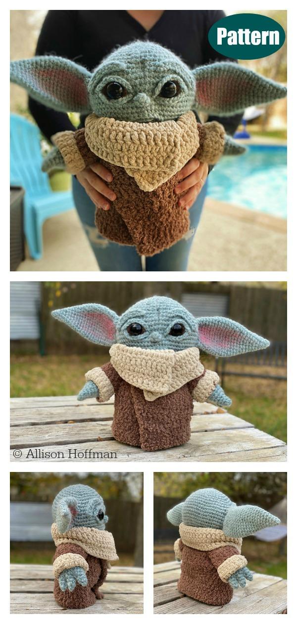 The Child Baby Yoda Amigurumi Crochet Pattern