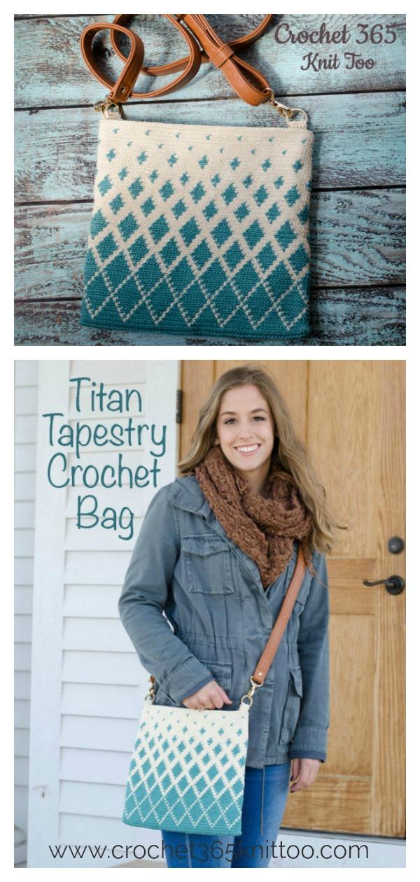 Titan Tapestry Bag Free Crochet Pattern