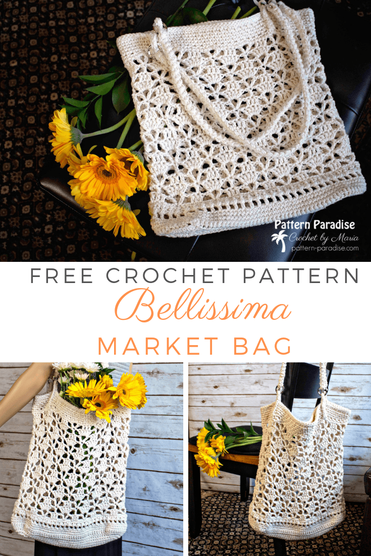 V Stitch Bellissima Market Bag Free Crochet Pattern