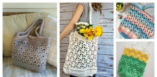 Fancy Market Bag Free Crochet Pattern