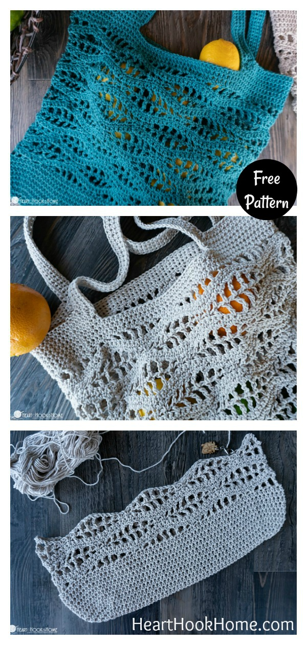Wave Market Bag Free Crochet Pattern