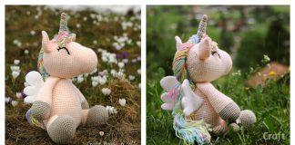 Winged Unicorn Amigurumi Free Crochet Pattern