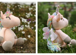 Winged Unicorn Amigurumi Free Crochet Pattern