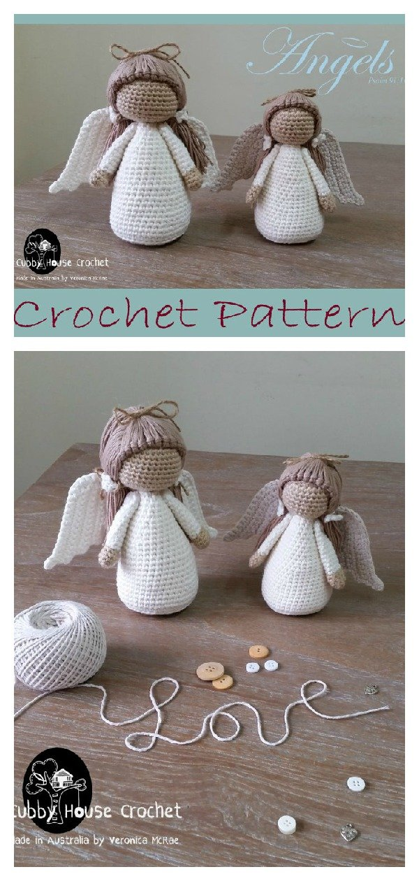 Amigurumi crochet angel pattern | 1260x600