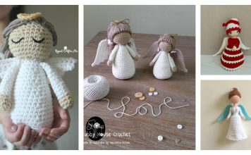 Amigurumi Christmas Angel Doll Free Crochet Pattern and Paid