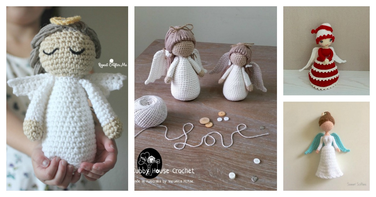 Easy Crochet Angel Amigurumi Free Pattern | 630x1200