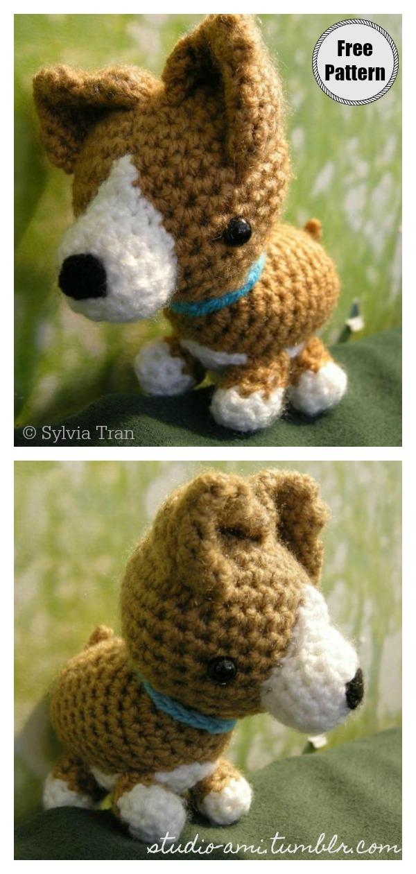 Amigurumi Corgi Dog Free Crochet Pattern