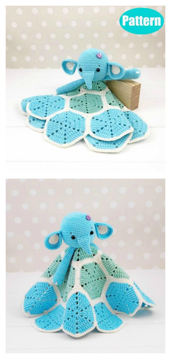 Amigurumi Elephant Lovey Blanket Crochet Pattern