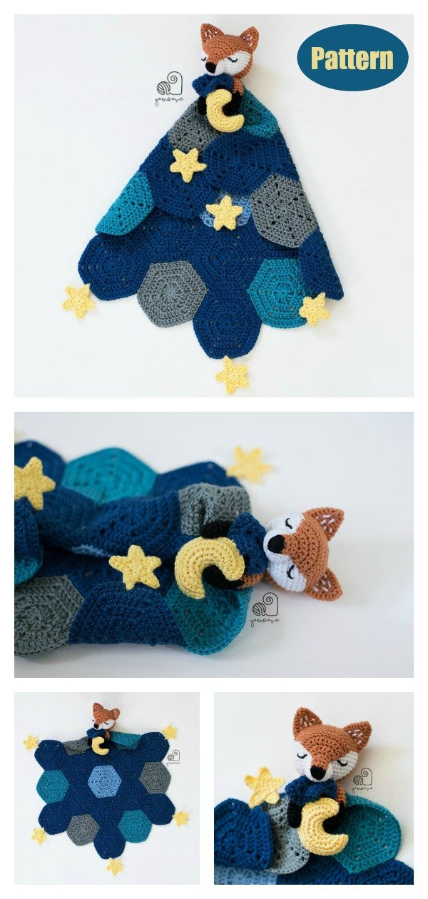 Amigurumi Fox Lovey Blanket Crochet Pattern