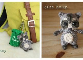 Amigurumi Tiny Raccoon Keychain Free Crochet Pattern